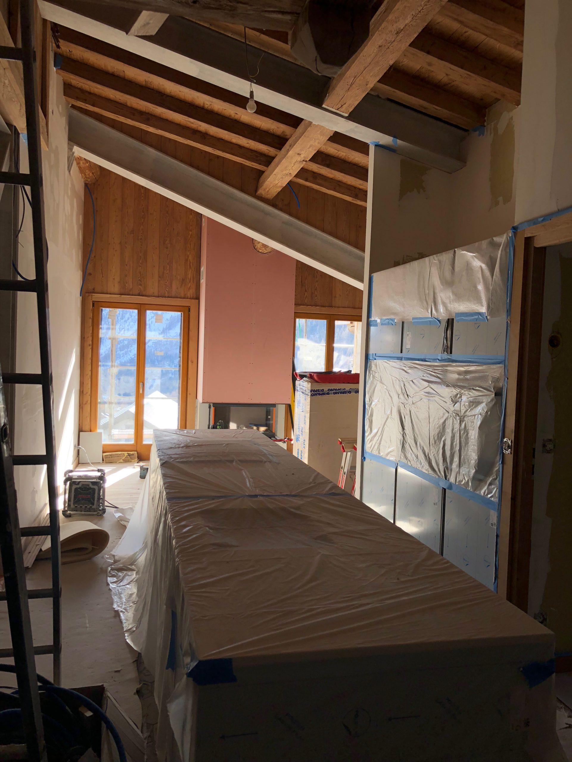 Rénovation ferme intérieur chamonix